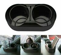 Coffee Cup Holder Universal Auto Dual Hole Organizer Water Tea Mug Stand Rack