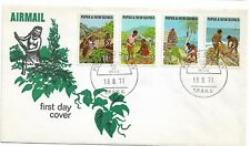 1971 Primary Industries set 4 Stamps FDC FDI 18.8 1972 Port Moresby PNG as Scan