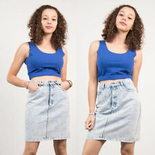 Cotton Blend Cropped Singlepack Basic T-Shirts for Women