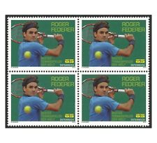 Austria 2010 Tennis Player Roger Federer Block of 4 Stamps Mint Unhinged MUH