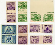 LOT of SEVEN PAIRS 1935 Farley Re-Issues Scott #727 730 731 771  NH/NG