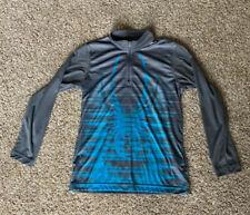 SPYDER 1/4 Zip Pullover Kids Boys L Youth Long Sleeve Grey