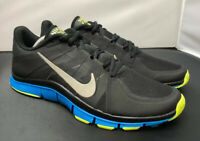 Nike Free 5.0 Running Gym Shoes 511018 004 Black Blue Mens Size 10.5 Worn Once