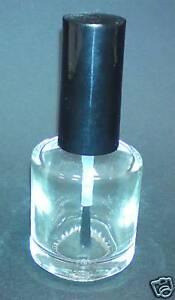 50 x 15ml NAGELLACK GLASFLASCHEN MIT PINSEL UND DECKEL
