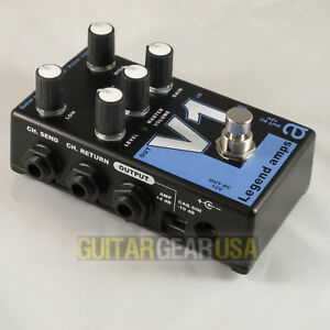 AMT Electronics Guitar Preamp V-1 Pedal (Legend Series) emulates VOX AC30 amp