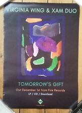 Virginia Wing Xam Duo Tomorrow's Gift  LP Official Promo Poster Hookworms