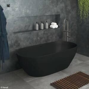 Luciana 1690 matte black stone bath: Product Code: ST11-17OOB