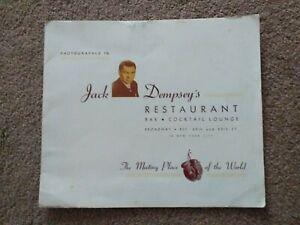 Original Hand Signed Autograph Of Jack Dempsey USA World Boxing Champion