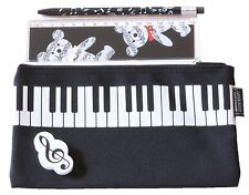 New 4 piece musical stationary pack pencil case mechanical pencil eraser ruler