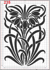 Beautiful Flowers Plants Stencil MYLAR A4 sheet strong reusable Art Craft Deco