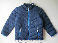 HANNA ANDERSSON Warm Up In Down Packable Jacket Coat Navy Blue 110 5 NWT