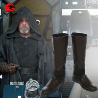 DFYM Star Wars The Last Jedi Cosplay Boots Luke Skywalker Costume Shoes Leather