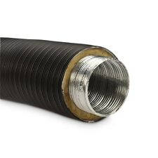 Isoliertes Aluflexrohr Aluflexleitung 800 mm, DN 80 mm, Schwarz