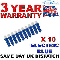 10 - 286 LED BLUE T5 Dashboard-instrument bulbs Push In Fitment UK Company