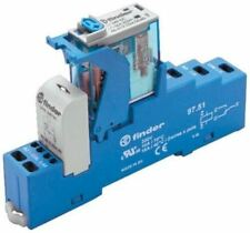 Finder 4C Series[Blank] 12V dc DIN Rail Interface Relay Module, DPDT, Cage Clamp