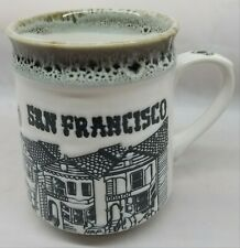 SAN FRANCISCO RAISED RELIEF Coffee Mug Before Starbucks Excellent Condition