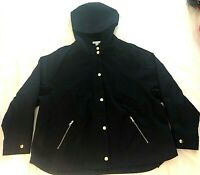 Charter Club Hooded Jacket Zip Pockets Navy Sz Petite XL NWOT