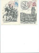 Timbres CROIX-ROUGE 1960 n°1278 et 1279 oblitérés sur carte postale philatélique