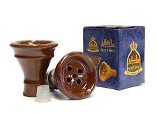 2X  Clay Hookah Bowls /& 2 Bowl Grommets Accessory Parts Shisha Pipe Hookah New