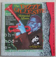 DIZZY GILLESPIE MEMORIAL ALBUM   CD PREVIOUSLY UNDOCUMENTED LIVE