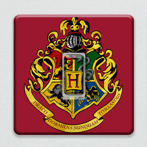 Harry Potter Hogwarts Emblem UK Light Switch Vinyl Sticker for Wizard Bedroom