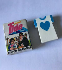 Rare Vintage 1980s Tide Washing Powder Boxed Eraser/Rubber