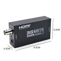 3G SDI to HDMI Converter Adapter HD SDI Full HD 1080P Video Audio For TV