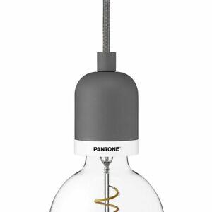 PANTONE Deneb Pendant Drop Cap Pendant Light NIB in Satin Pewter (Slate-Grey)