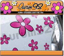 Pink Daisy Automóvil Pegatinas-Paquete de 30