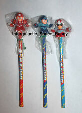1994 Bandai Japan Mega Man Rockman & Rush Armor & Protoman Pencil Lot