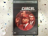 CHACAL DVD NUEVO NEW PRECINTADOJOHN WOOLF THE JACKAL ESPAÑOL INGLES FRA ITA ALE