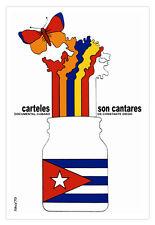 Cuban movie Poster 4 Cuba film CANTARES.Butterfly art.Rainbow colors.Room decor