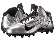 brand new 35f62 958dc Para Hombre Nike Speedlax 4 Lacrosse fútbol LAX Cala 616297 901 Plata Negro  Talla 11