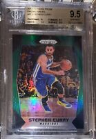 POP 1🔥NO OTHERS! 2018 Stephen Curry PANINI GREEN PRIZM REFRACTOR 41 BGS 9.5 PSA