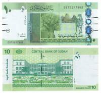 SUDAN 10 Pounds (2011) P-73 UNC Banknote