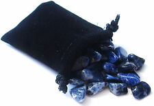SHARING STONES - 2oz (75-85) SODALITE XS Tumbled Crystals with Pouch & Card