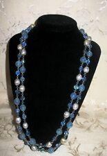 """Sherman Jewels of Elegance - Script Signed Sherman Tri-Color Necklace 23.5"""""""