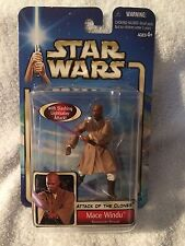 2002 STAR WARS - ATTACK OF THE CLONES - MACE WINDU - GEONOSIAN RESCUE - MIP