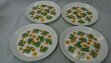 Nice vtg.4 Stavangerflint Norway Scandinavian  May green yellow salad plates