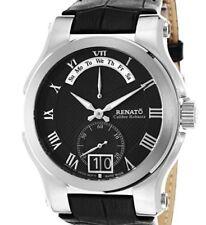 New Mens Renato Calibre Robusta Black Dial Swiss Retrograde Day Date Watch