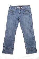 Christopher Blue Women's Jeans Cropped Stretch Denim Flap Pocket Size 4
