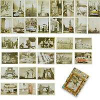 32pcs travel postcard vintage landscape building photo picture poster post ca UN