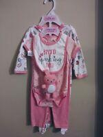 Cutie Pie Baby Girl's 5 Pc Diaper Cover Set (US 6-9 mo)