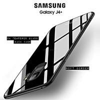 Coque pour Samsung Galaxy J4+ Plus Original Crystal Glass Arrière Verre Trempé