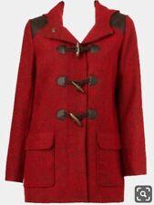 SPORTSGIRL Red wool Paddington toggle duffle Coat Jacket. With Hood. Size 8