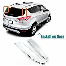 Accessories Chrome Rear Window Side Covers Trims For 2013-2018 Ford Escape SUV