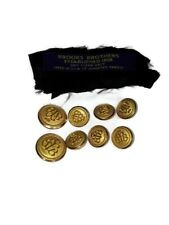 8 Brooks Brothers Gold Tone Buttons Complete Blazer Replacement 6 Small 2 Large