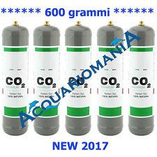 Bombola CO2 per acquario 600gr usa e getta passo 10x1 mm Standard Kit 5 pz