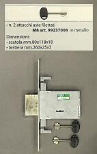 40.70678C6 SERRATURE DOPPIA MAPPA AD INFILARE MOTTURA DA 70 ART