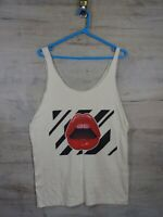 the Lips Music graphic Band Punk Indie tank top T shirt refA11 Large